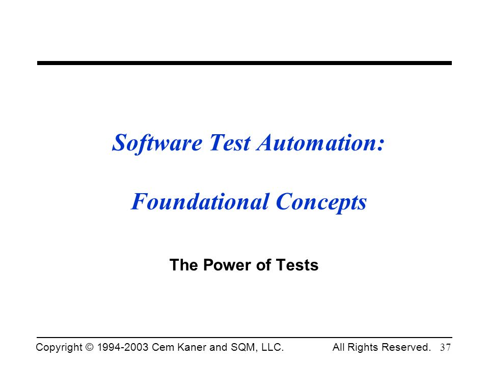 Software Test Automation: Foundational Concepts