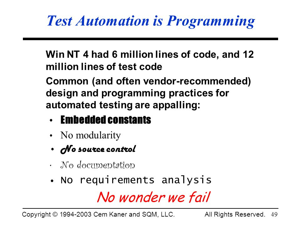 Test Automation is Programming