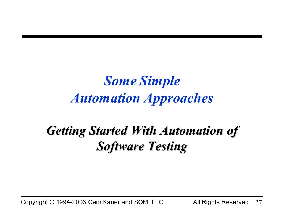 Some Simple Automation Approaches