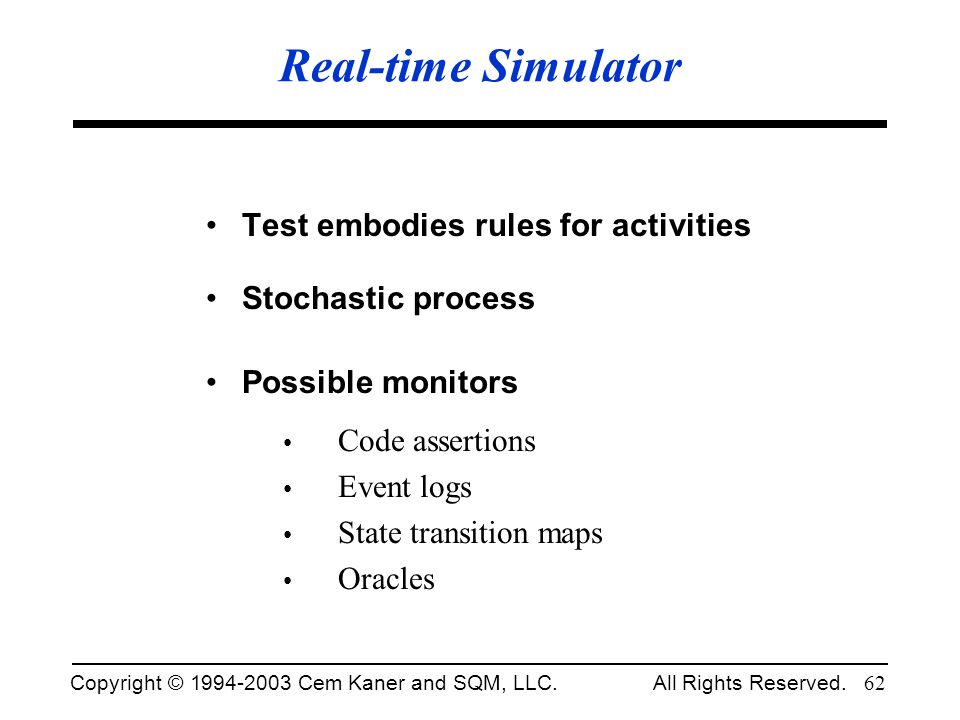 Real-time Simulator Test embodies rules for activities