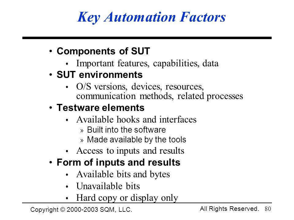 Key Automation Factors