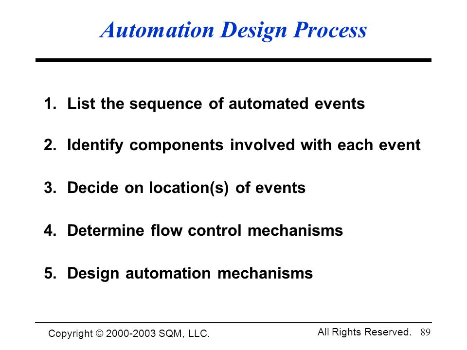 Automation Design Process
