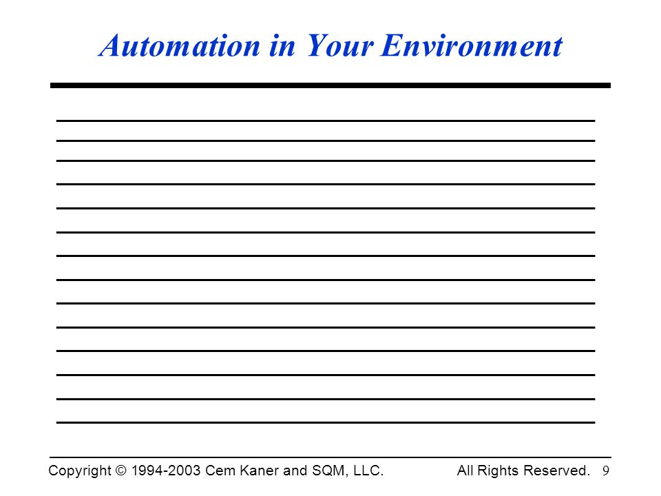 Automation in Your Environment