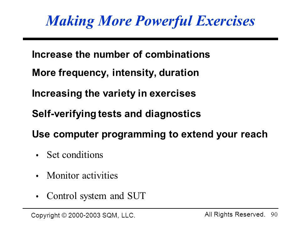 Making More Powerful Exercises