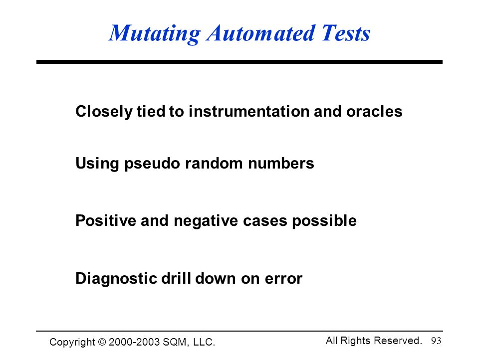 Mutating Automated Tests
