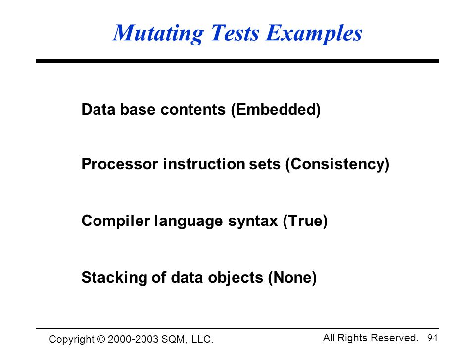Mutating Tests Examples