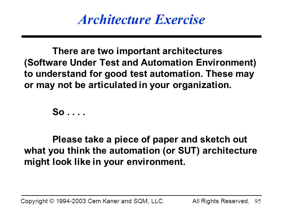 Architecture Exercise