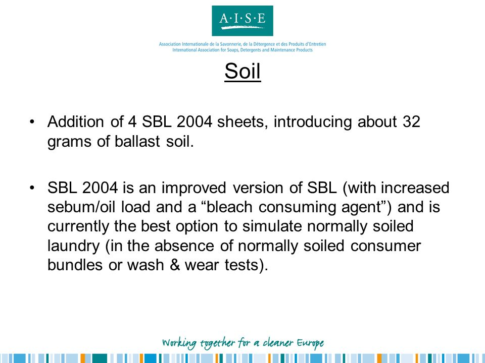 Soil Addition of 4 SBL 2004 sheets, introducing about 32 grams of ballast soil.