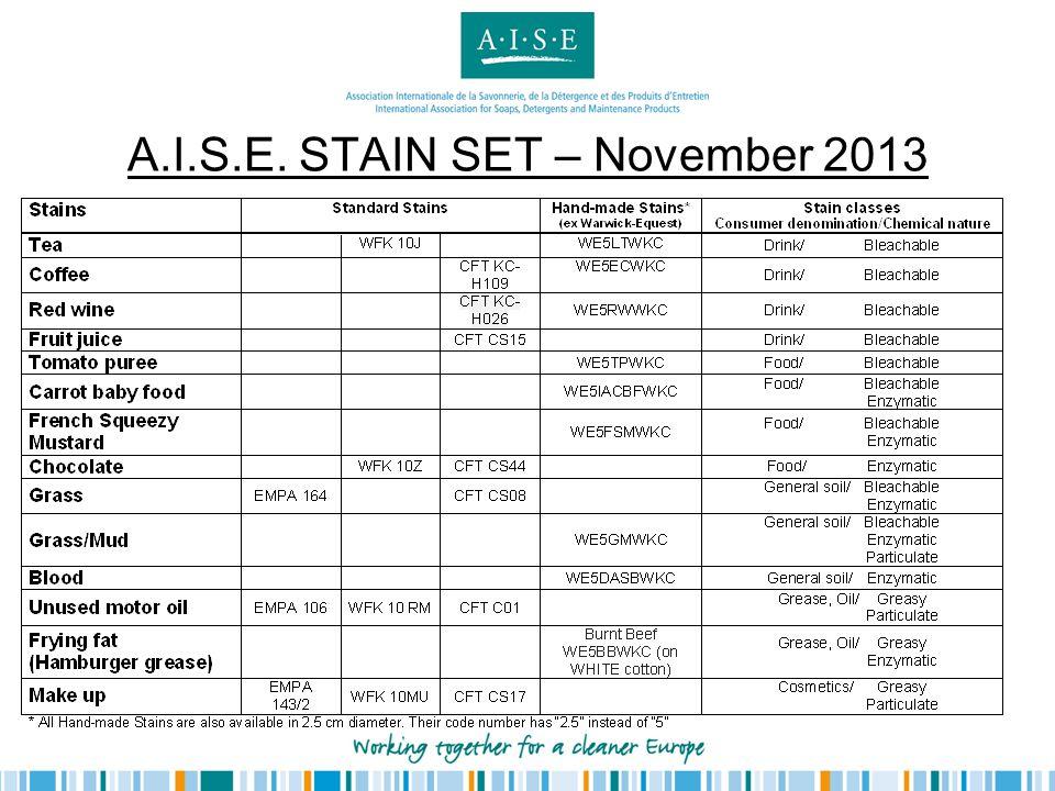 A.I.S.E. STAIN SET – November 2013