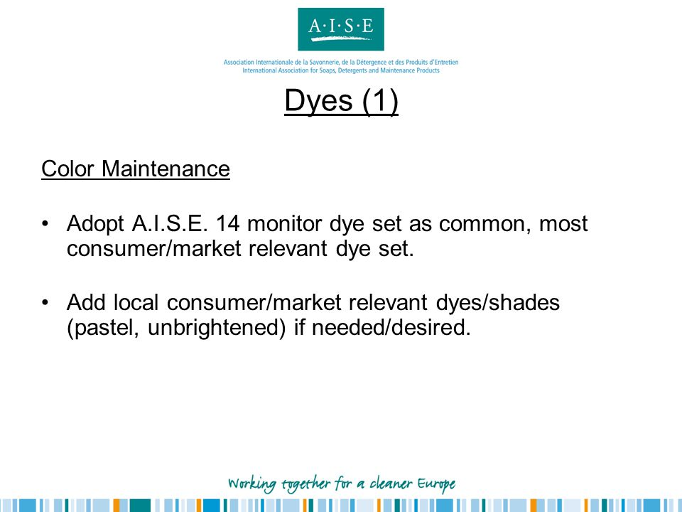 Dyes (1) Color Maintenance