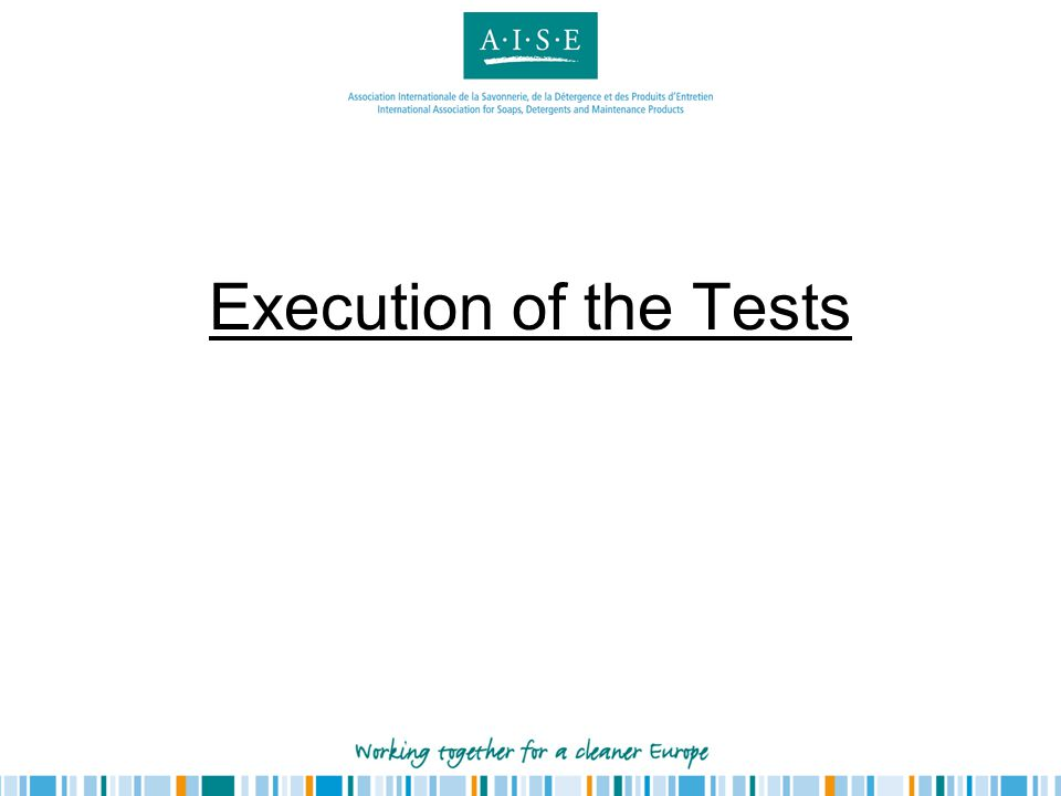 Execution of the Tests