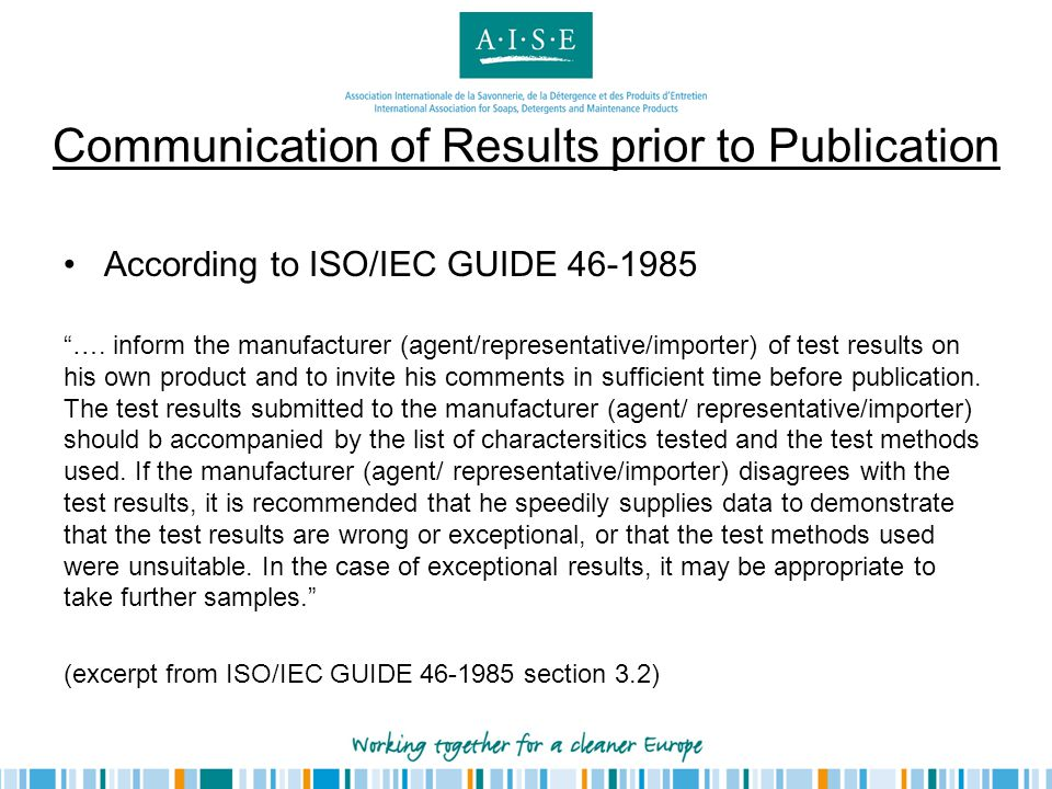 Communication of Results prior to Publication