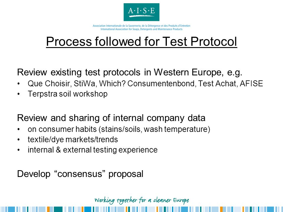 Process followed for Test Protocol