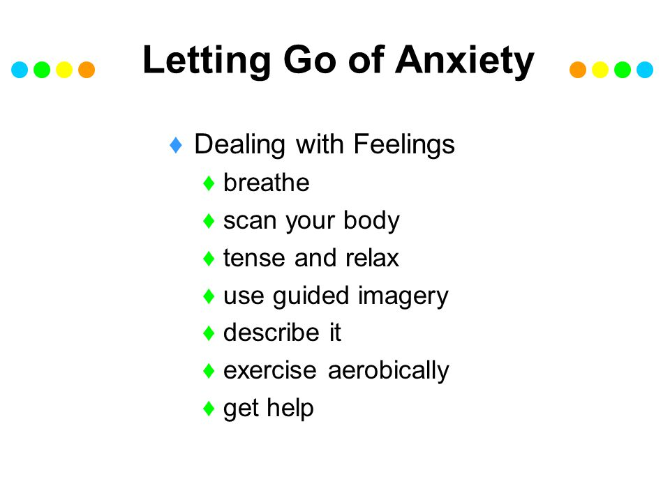 Letting Go of Anxiety Dealing with Feelings breathe scan your body