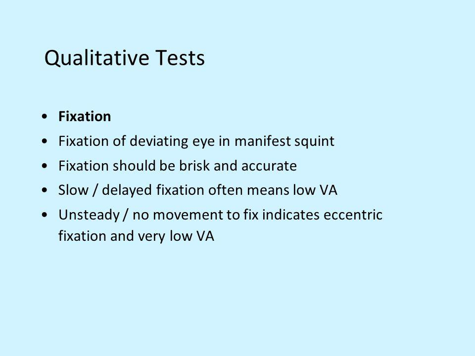 Qualitative Tests Fixation