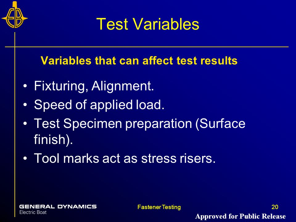 Variables that can affect test results