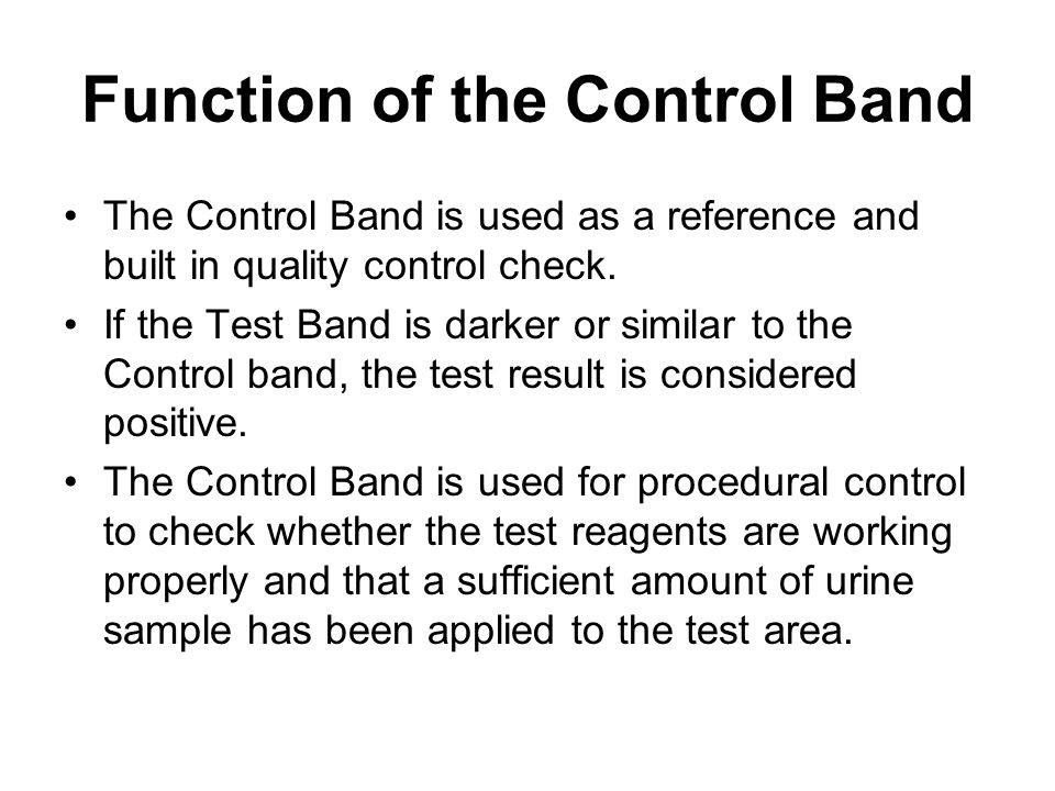 Function of the Control Band
