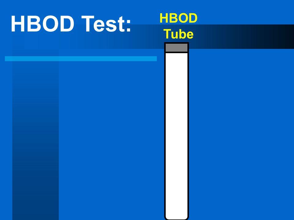 HBOD Test: HBOD Tube