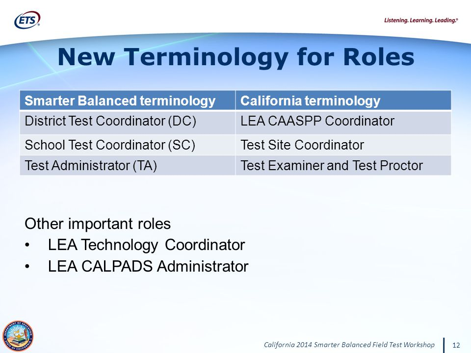 New Terminology for Roles