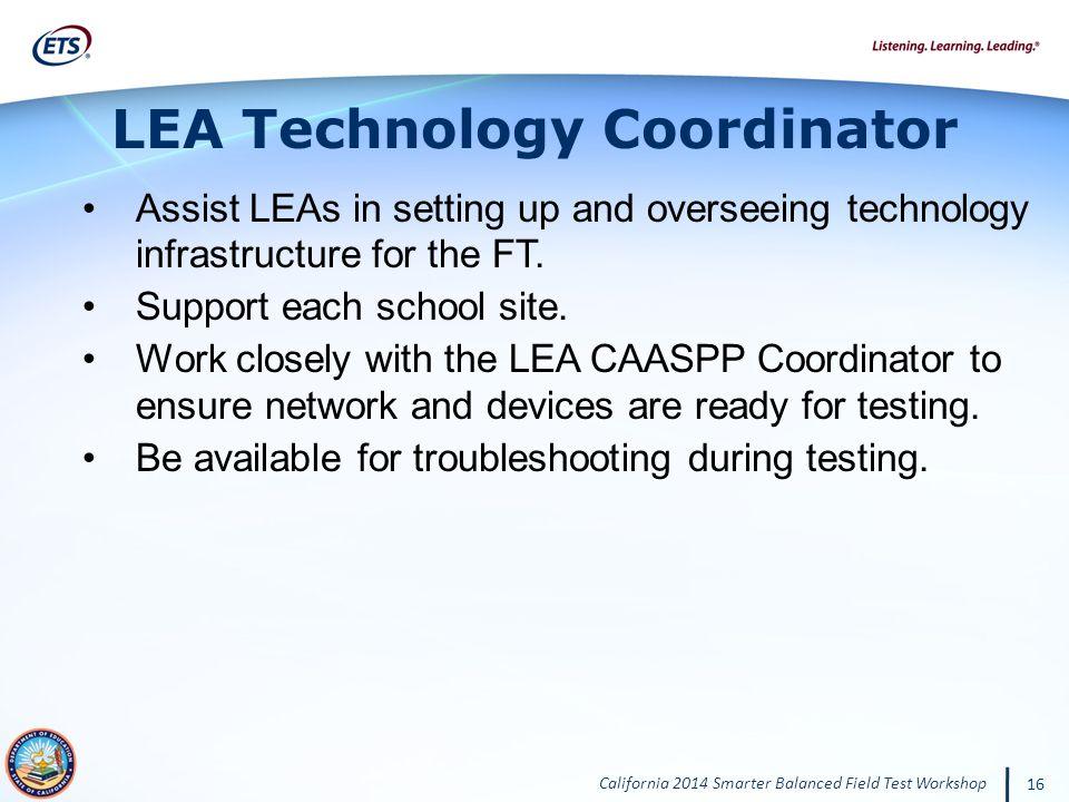 LEA Technology Coordinator