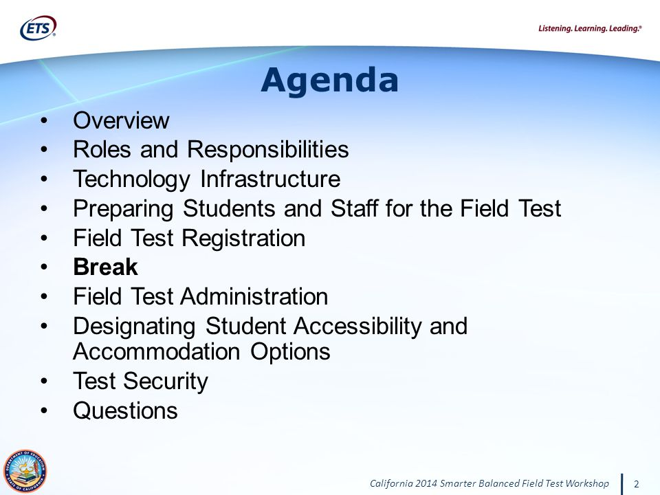 Agenda Overview Roles and Responsibilities Technology Infrastructure