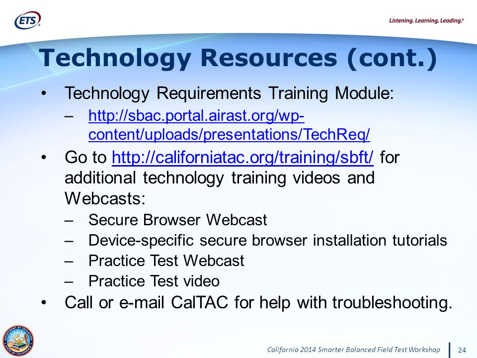 Technology Resources (cont.)