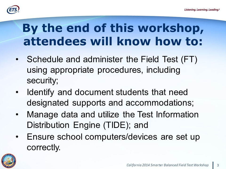 By the end of this workshop, attendees will know how to: