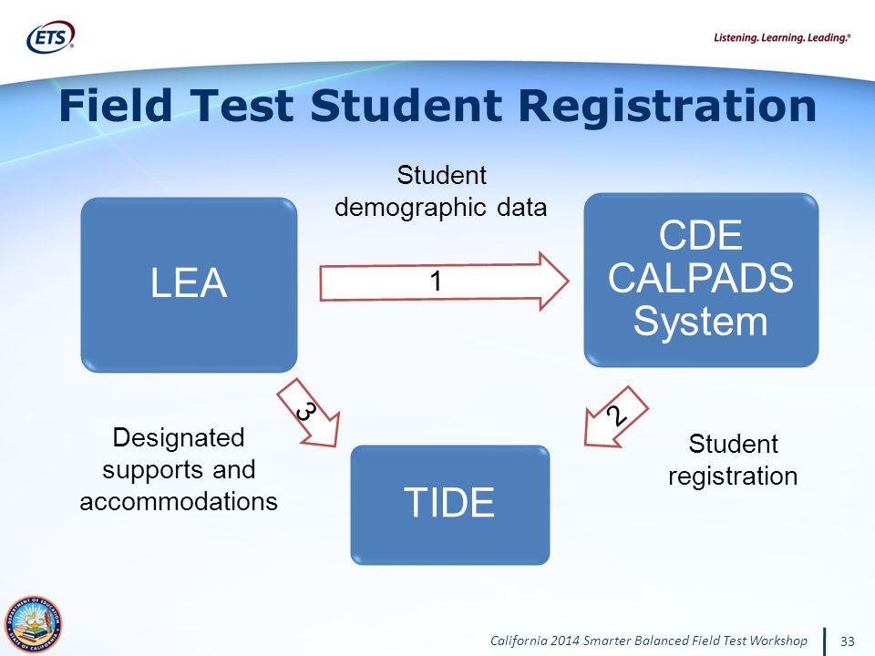 Field Test Student Registration