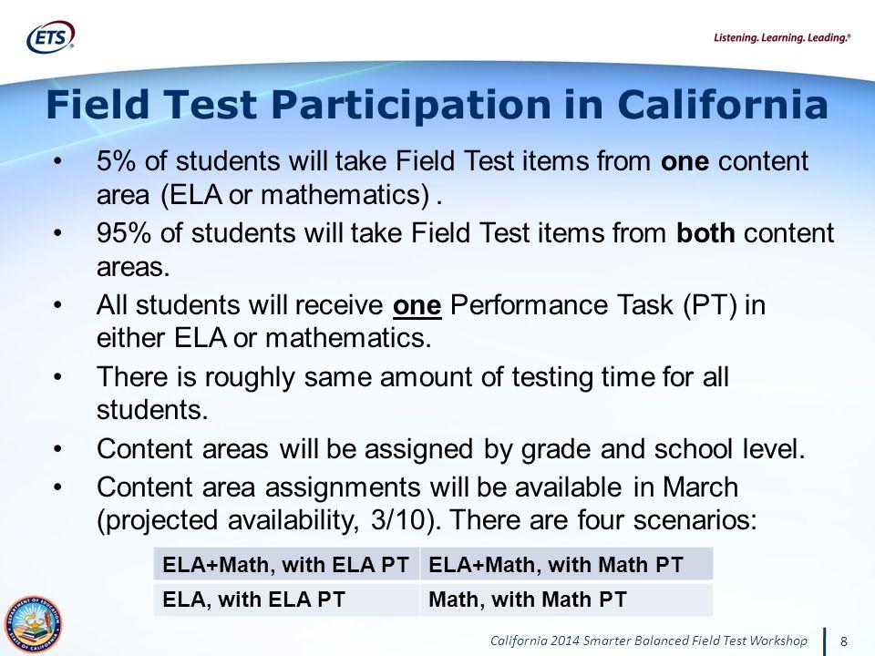 Field Test Participation in California