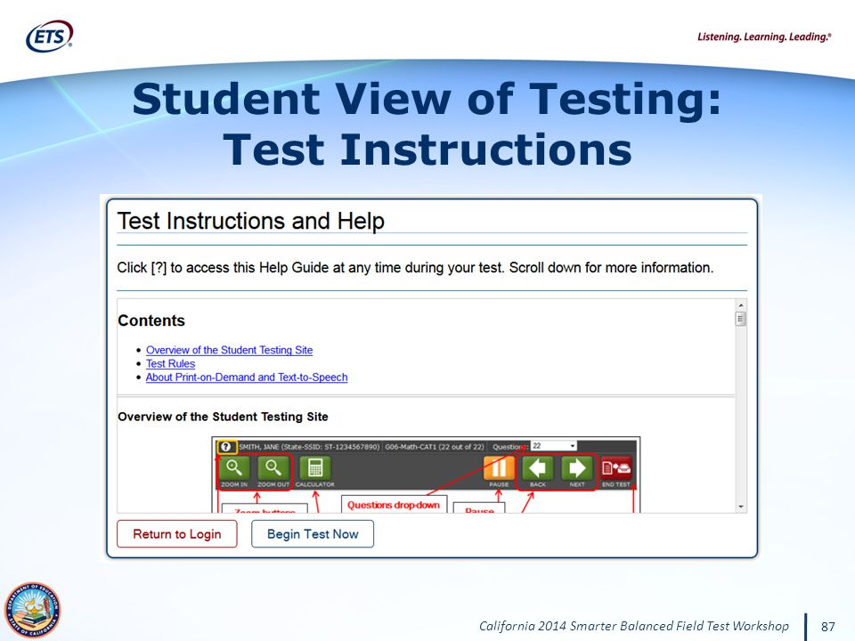 Student View of Testing: