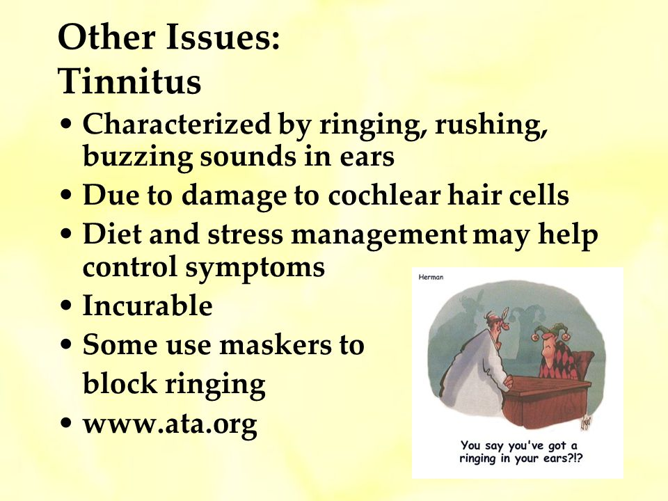 Other Issues: Tinnitus