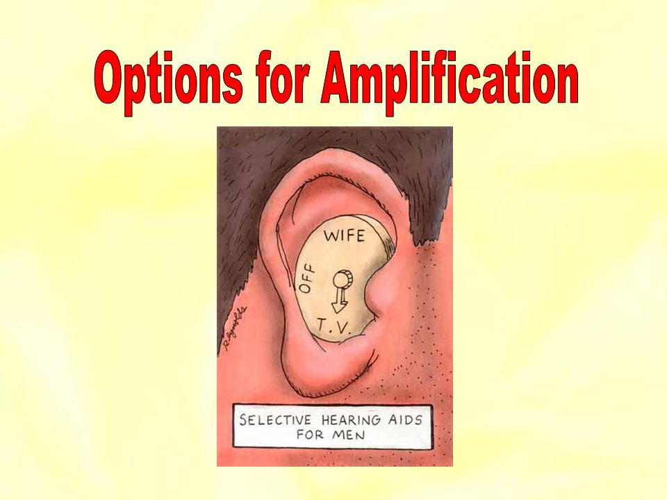 Options for Amplification