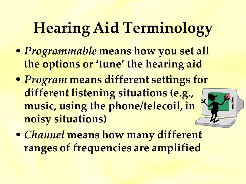 Hearing Aid Terminology