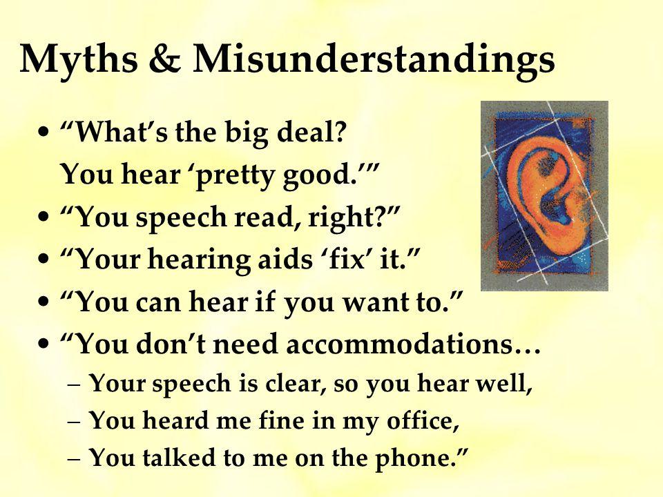 Myths & Misunderstandings