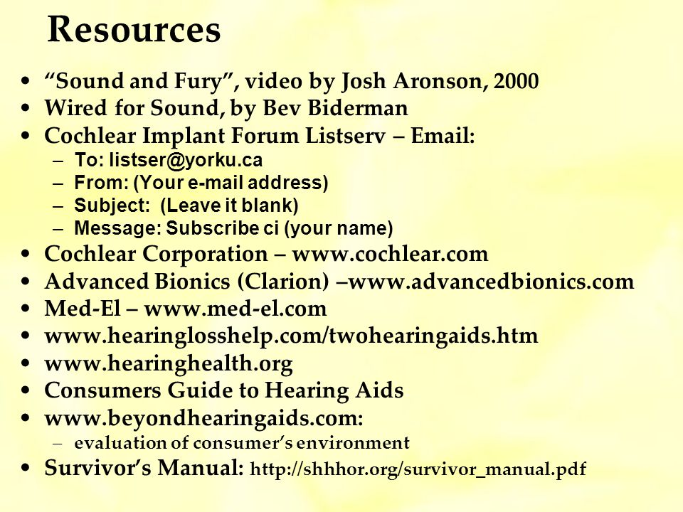 Resources Sound and Fury , video by Josh Aronson, 2000