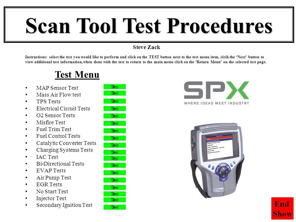 Scan Tool Test Procedures