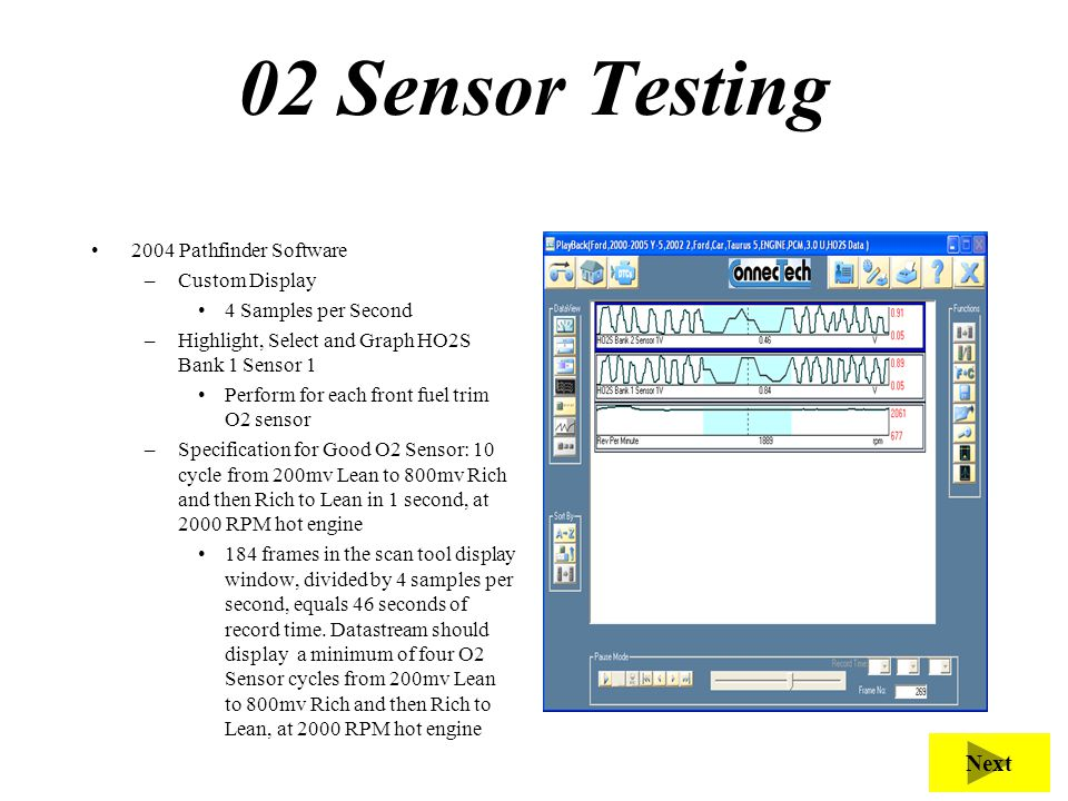 02 Sensor Testing Purpose of this test is to test sensor function.