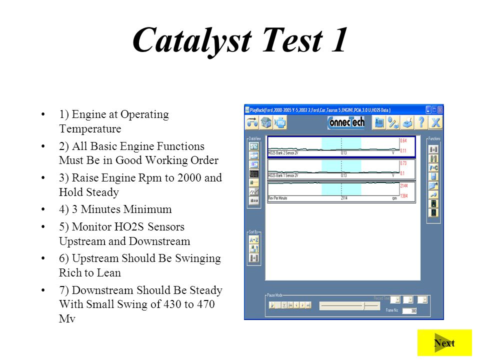 Catalyst Test 1 Purpose of this test is to verify Catalytic function.