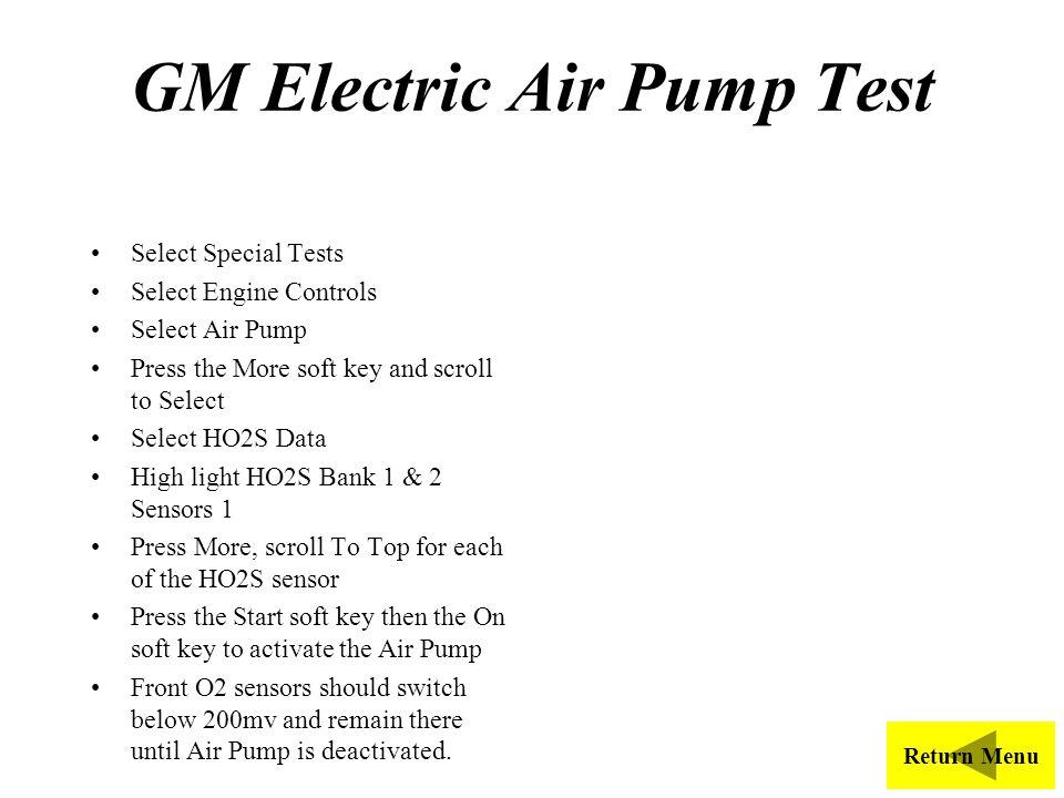 GM Electric Air Pump Test