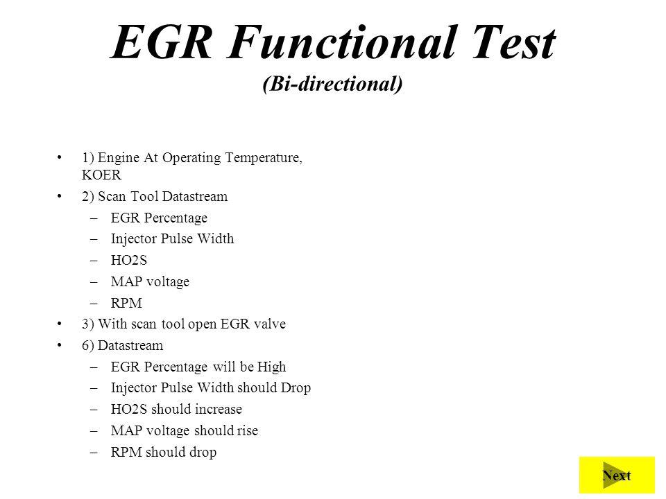 EGR Functional Test (Bi-directional)