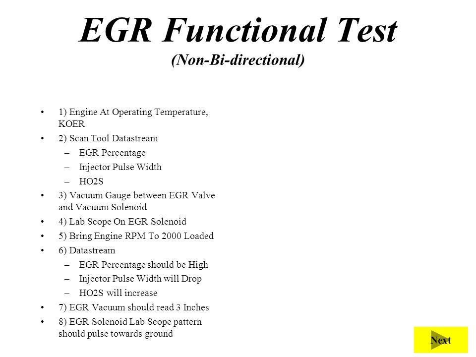 EGR Functional Test (Non-Bi-directional)