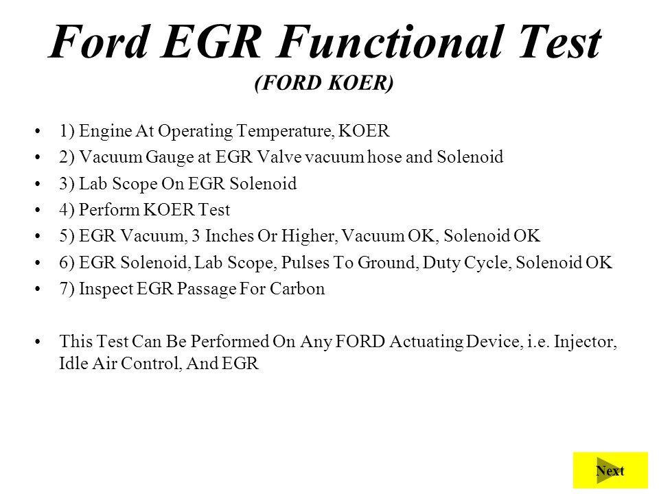 Ford EGR Functional Test (FORD KOER)