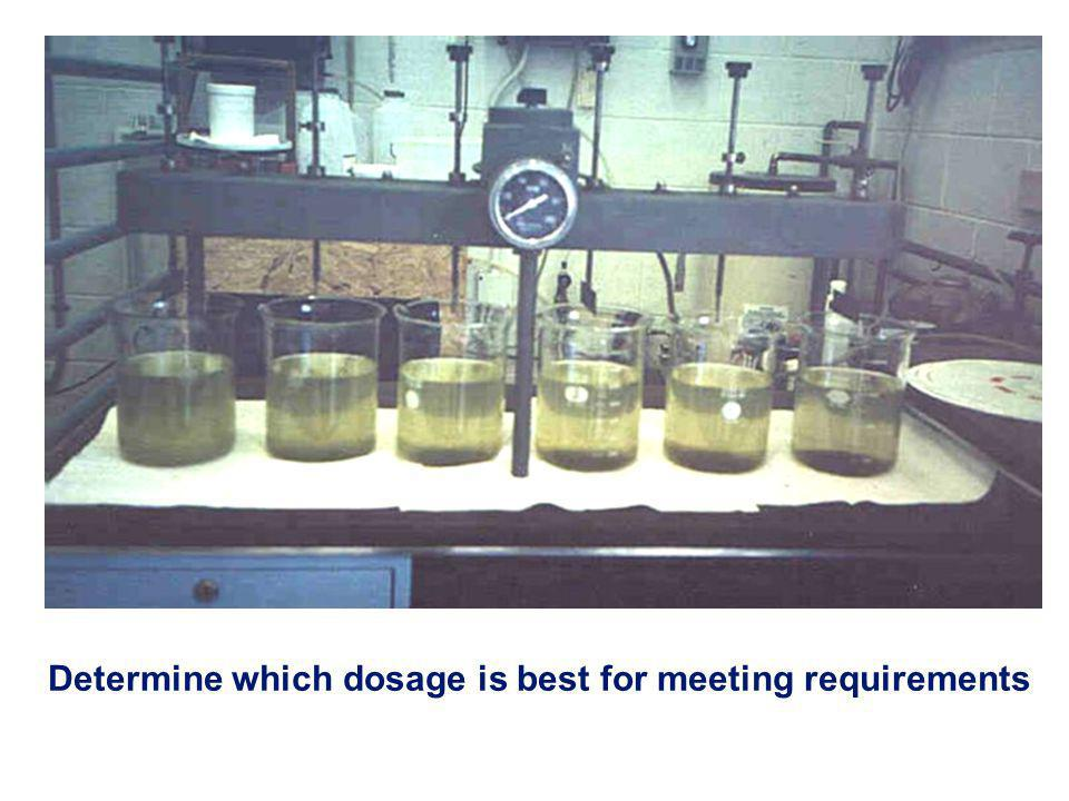 Determine which dosage is best for meeting requirements