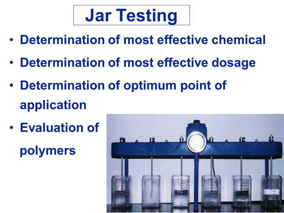 Jar Testing Determination of most effective chemical