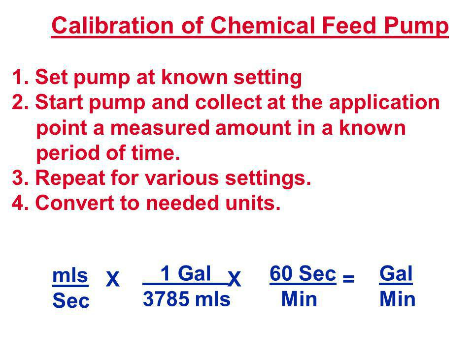 Calibration of Chemical Feed Pump