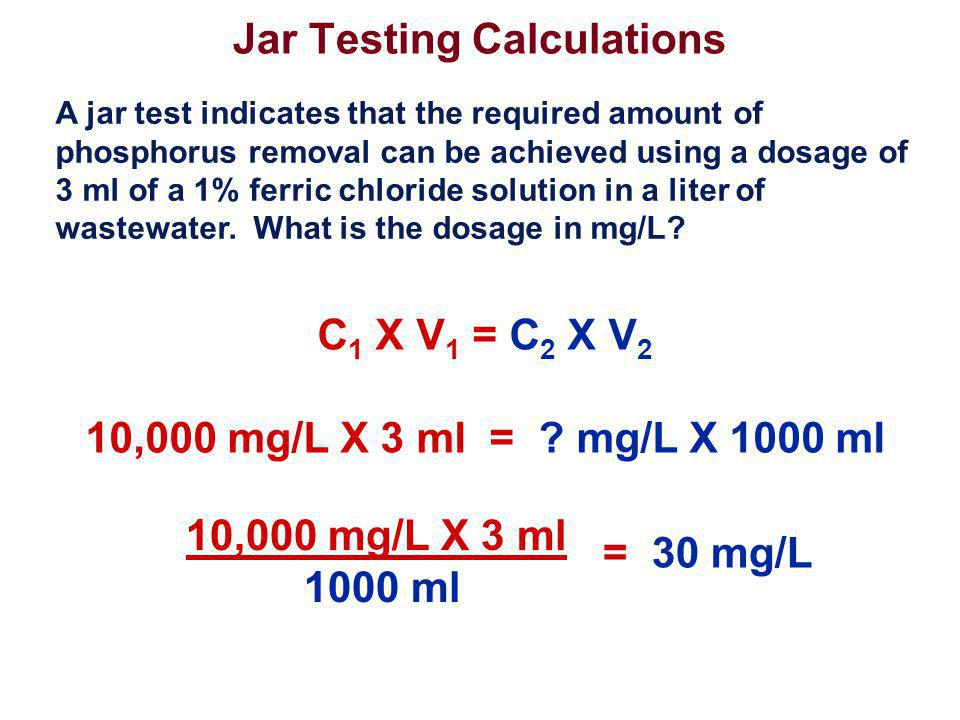 Jar Testing Calculations