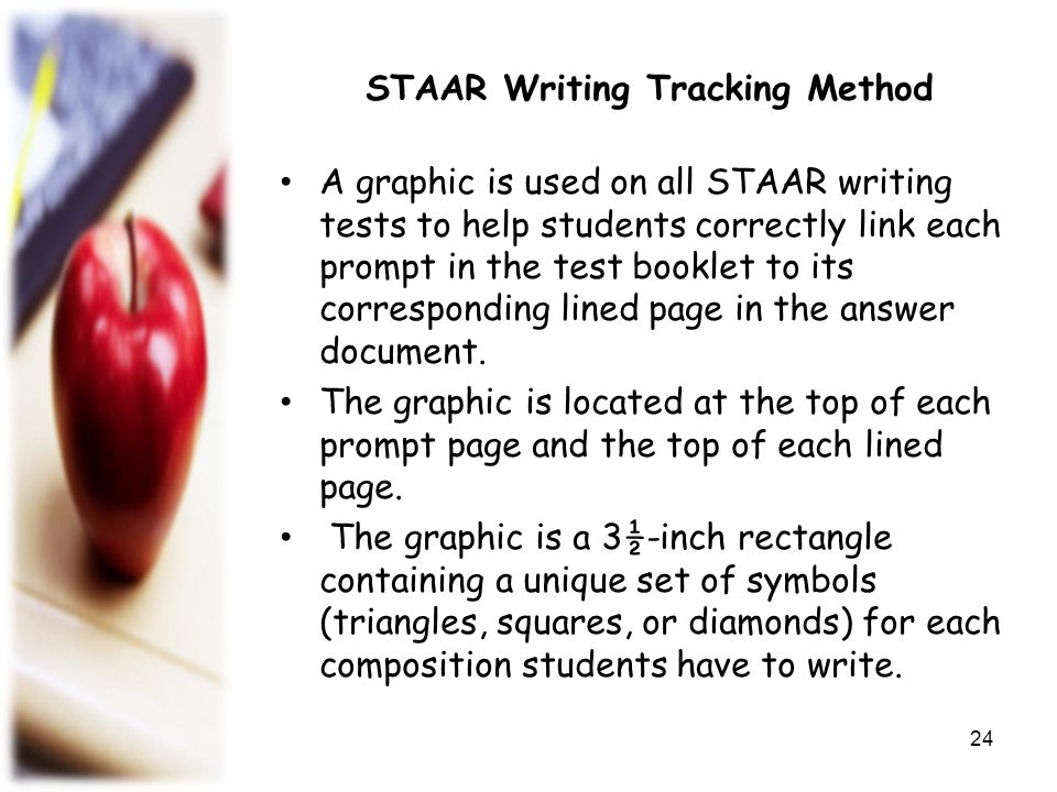 STAAR Writing Tracking Method