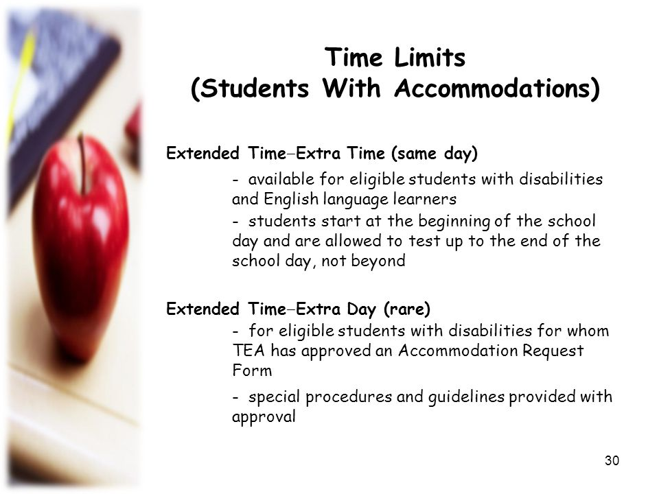 (Students With Accommodations)