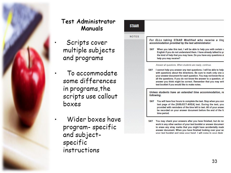 Test Administrator Manuals