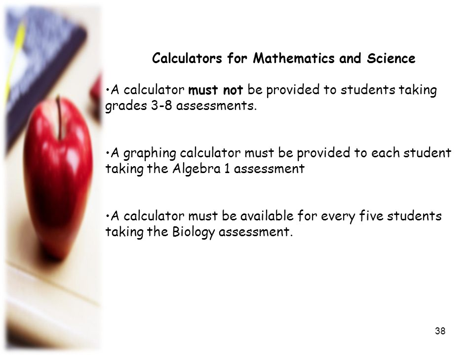 Calculators for Mathematics and Science